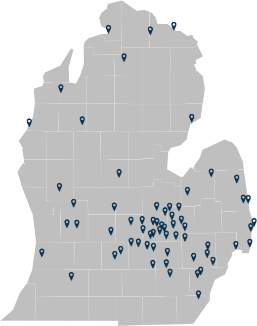 Map of Clients